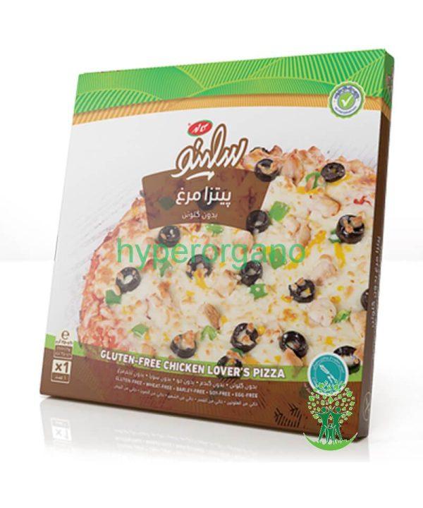 پیتزا مرغ بدون گلوتن سلینو