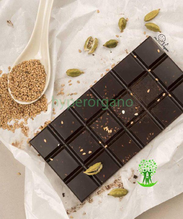 شکلات وگان شکلات تلخ تخته ای دست ساز وگان
