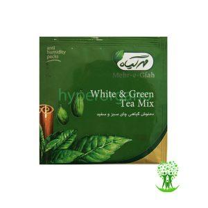 دمنوش گیاهی مخلوط چای سبز و سفید 14 عدد مهرگیاه