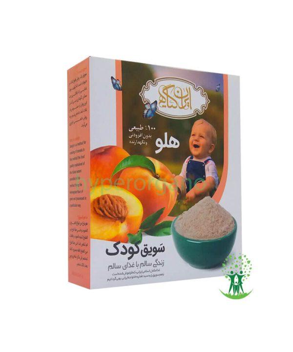 سویق-کودک-با-طعم-هلو-200-گرمی-ایران-گیاه