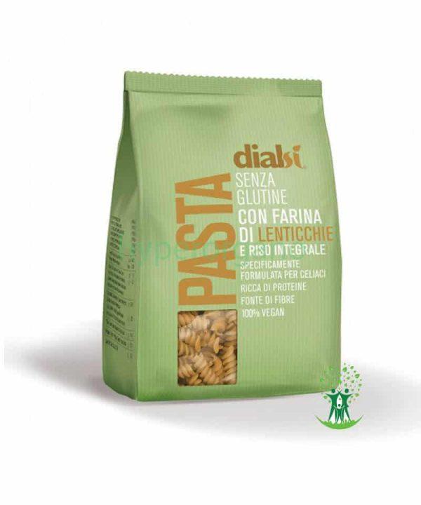 پاستا-فسیلی-بدون-گلوتن-با-آرد-عدس-و-برنج-قهوهای-240-گرمی-دیالسی